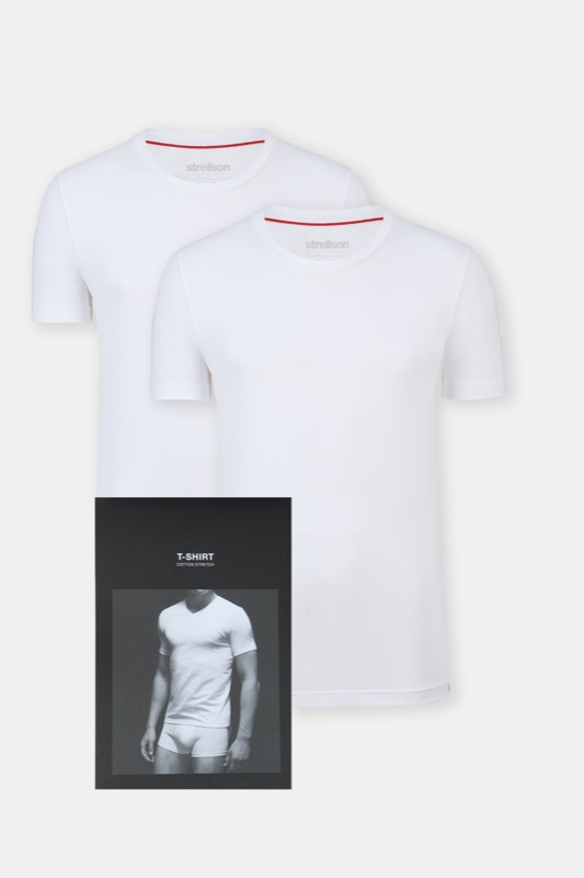 Duopak T-shirts, wit