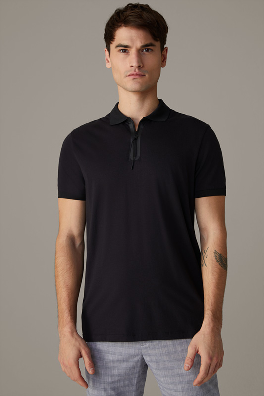 Flex Cross Poloshirt Barrett, schwarz