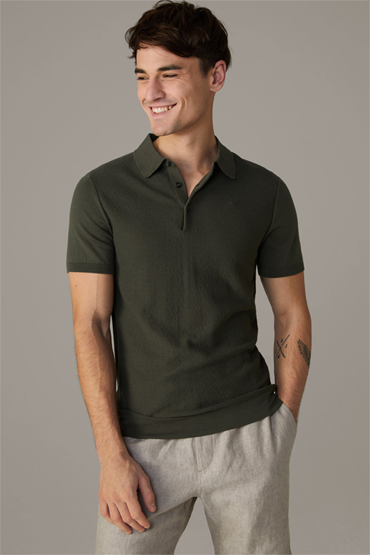 Poloshirt Vincent, medium grün