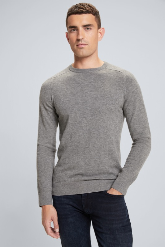 Pull-over Larry, gris moyen