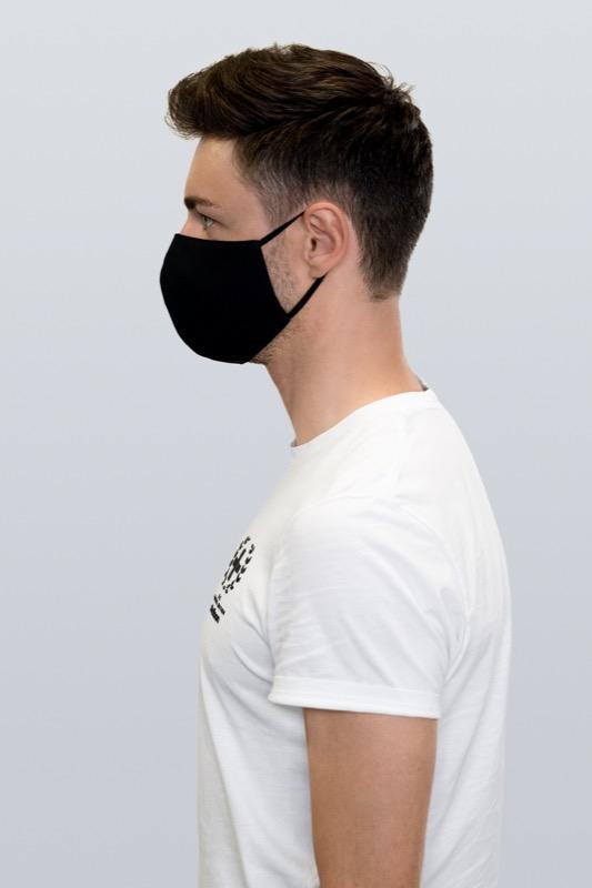 Mund-Nasen-Maske, schwarz