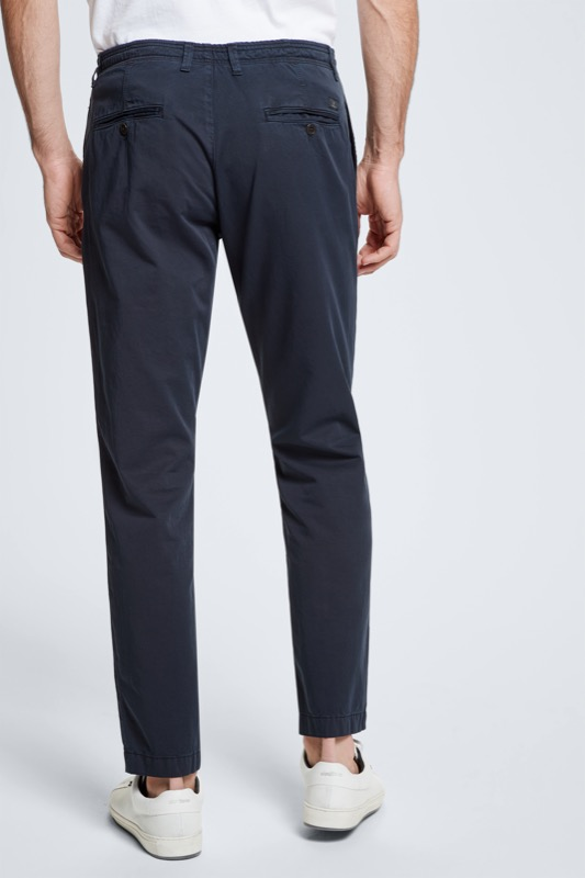 Chino Pure mit Tunnelzug, navy