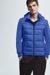 Veste courte hybride avec capuche, bleue
