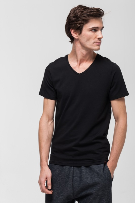Active Cotton T-Shirt, schwarz