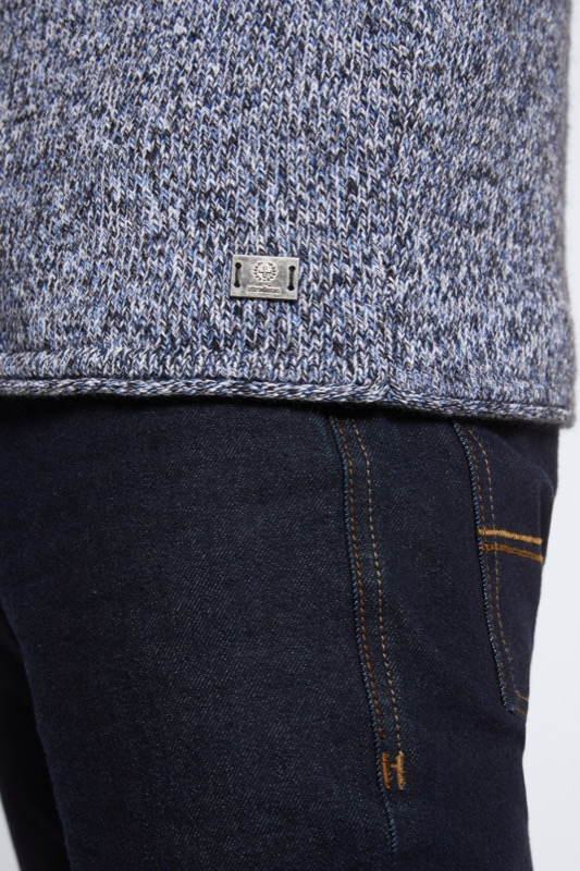 Pull-over Mark, bleu chiné