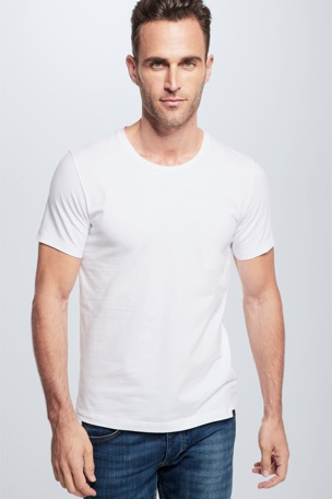 Cotton Stretch t-shirt, duopak, wit