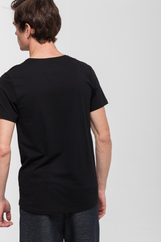 Active Cotton T-shirt, zwart