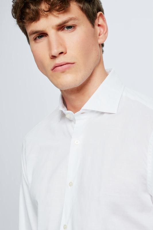 Hemd Sereno, weiß strukturiert