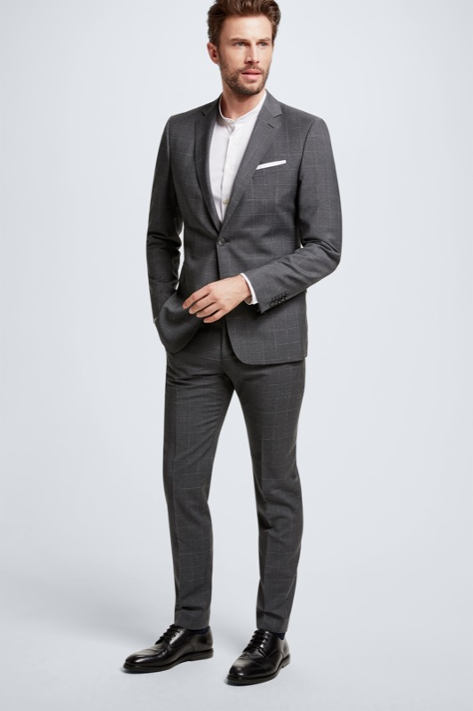 Schurwoll-Anzug Aron-Maser, grau kariert | Bekleidung > Anzüge & Smokings | Strellson