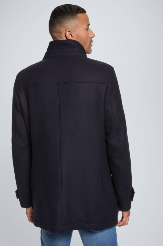 Wool-Stretch-Mantel Anzio mit Kaschmir, navy