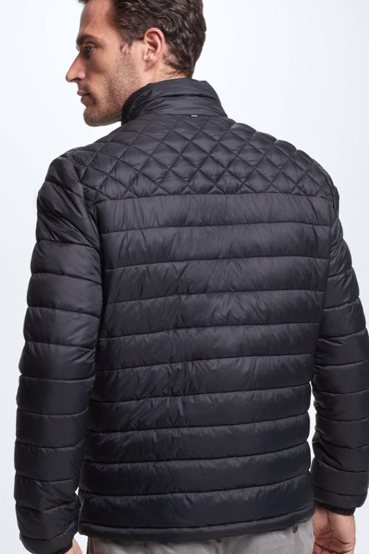 Gewatteerde 4Seasons-jas, zwart