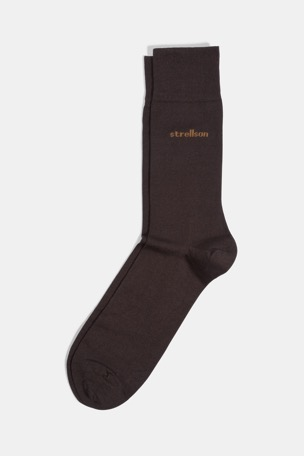 Business-Socken, dunkelbraun