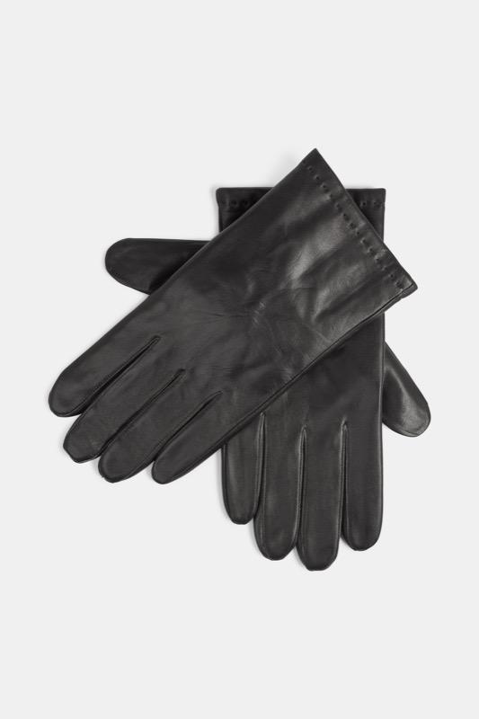 Leren handschoenen, zwart