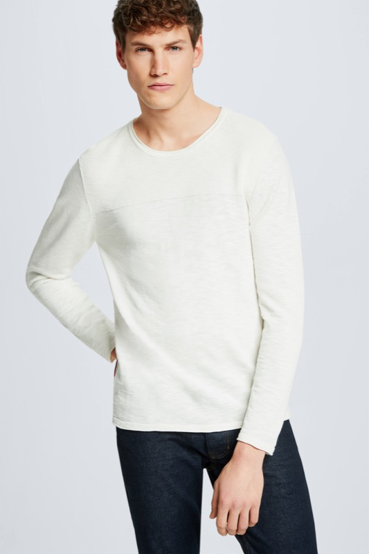 Pullover Albany, natur meliert