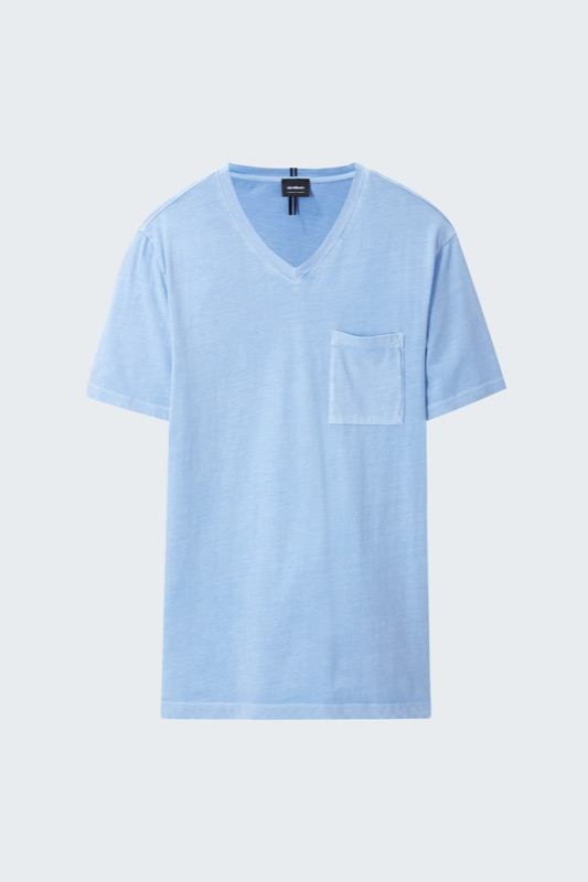 T-shirt Darby, pastelblauw