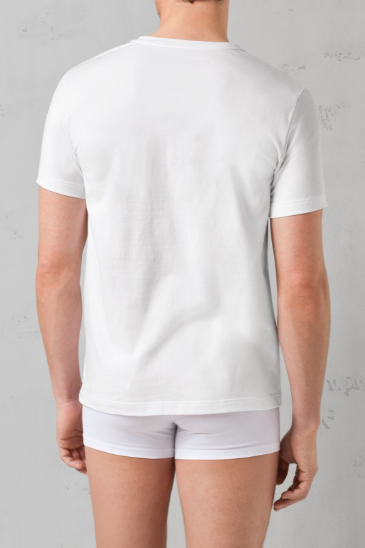 Cotton Stretch T-Shirt 2er Pack, weiß