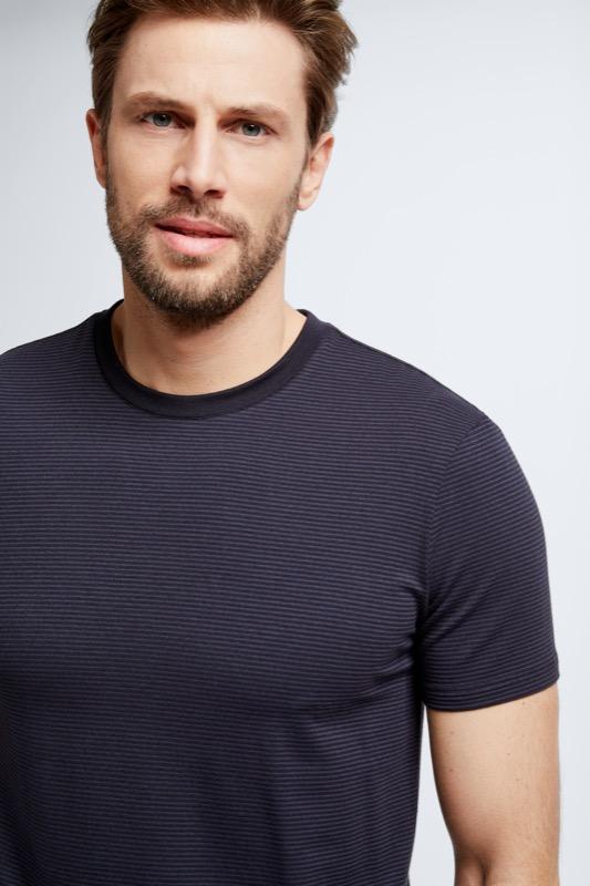 T-Shirt Felix, dunkelblau gestreift