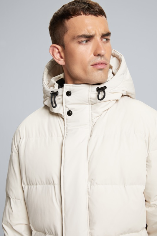 Manteau matelassé Flex-Cross, écru