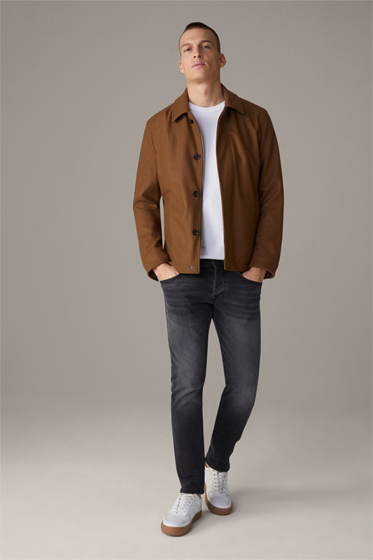 Wool-Blend Shirt Jacket Fano, medium braun
