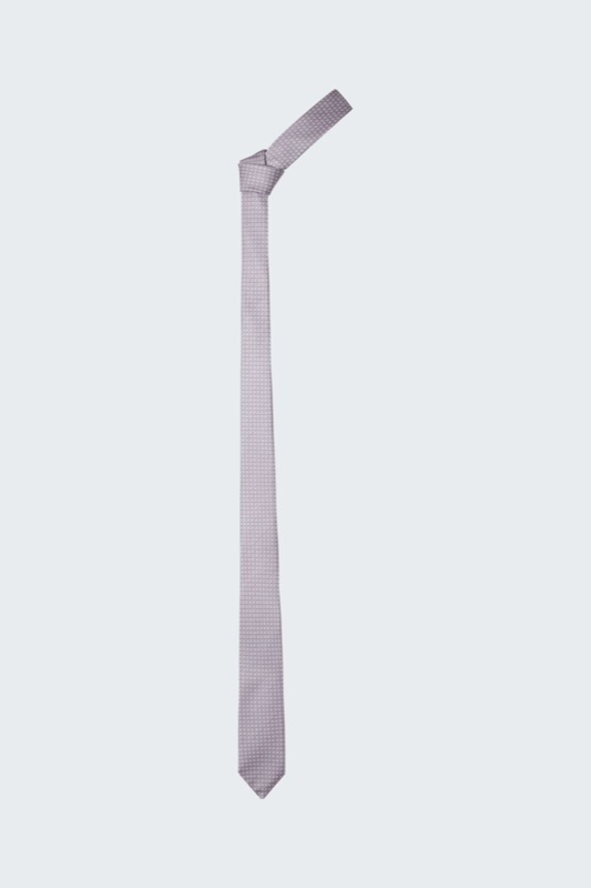 Zijden stropdas, grijs met dessin