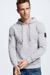 Hoodie Sanford - S.C. Collection, grau meliert
