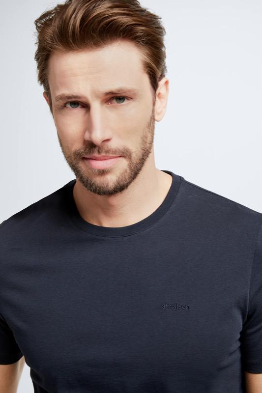Baumwoll-T-Shirt Clark, dunkelblau