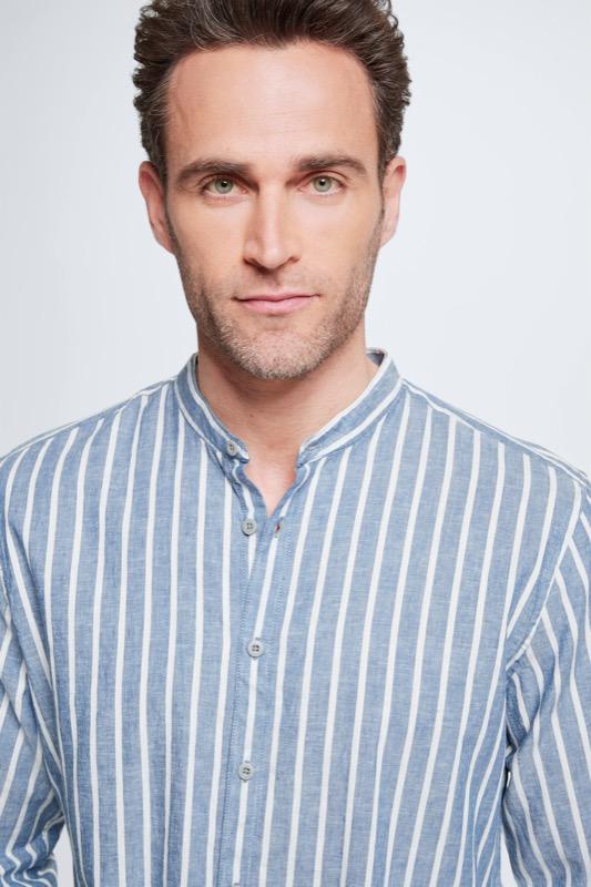 Chemise Conell, bleu/blanc à rayures