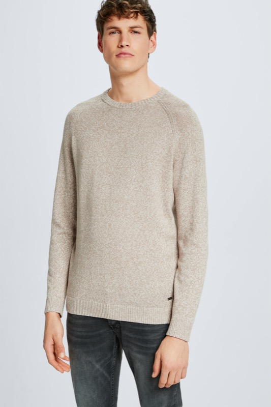 Pull Lance, beige chiné