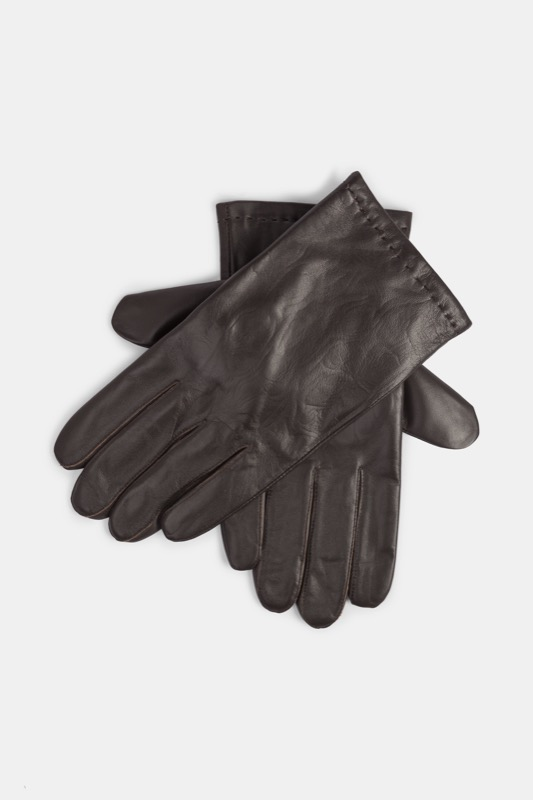 Leren handschoenen, donkerbruin