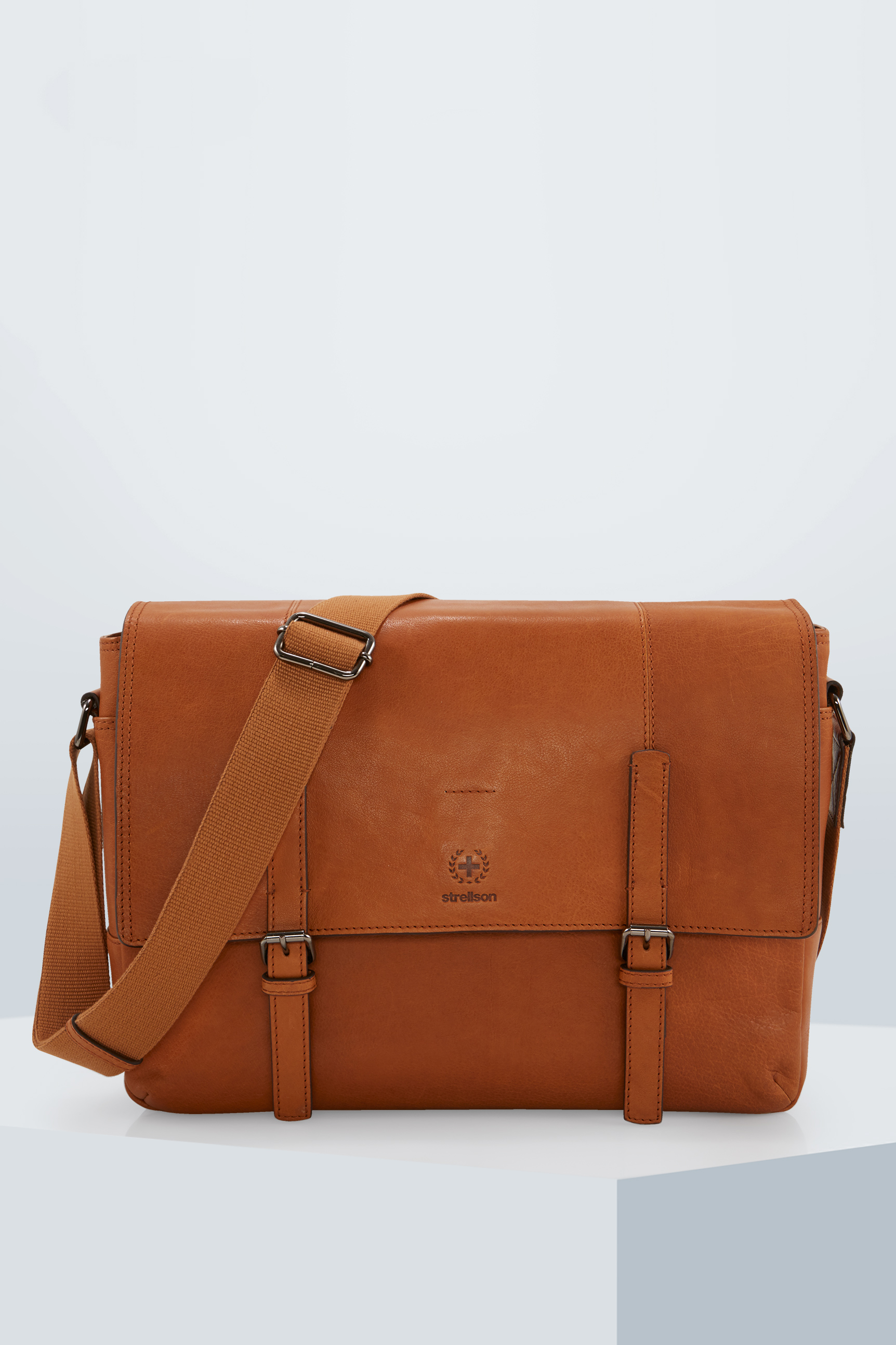 Sac coursier Blackwall, cognac