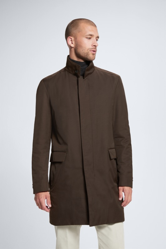 Manteau court Mayfair, marron foncé