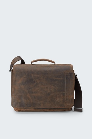 Sac coursier Richmond, marron vintage