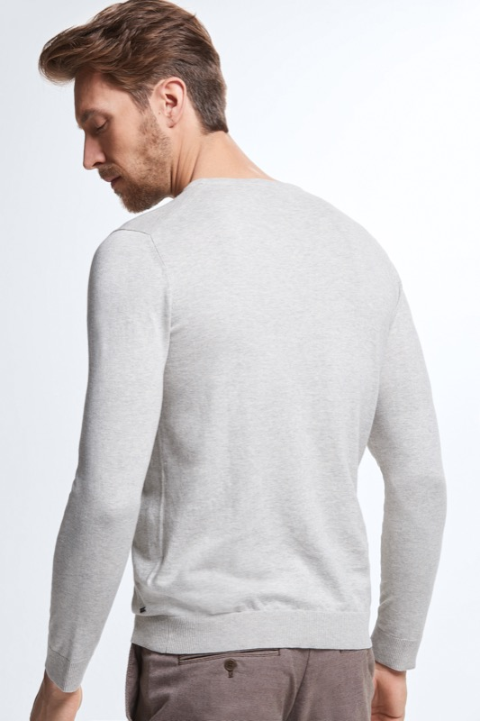 Pull-over à maille fine Toby, gris clair