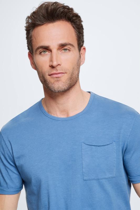 T-shirt Colin, bleu moyen