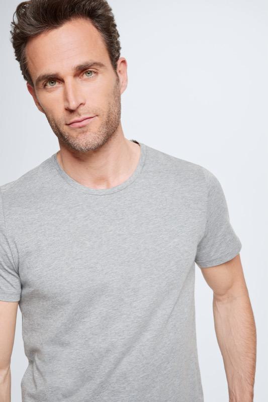Pyjama - T-shirt en short, grijs/zwart