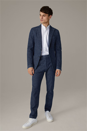 Denim Split Suit Cain-Till, navy