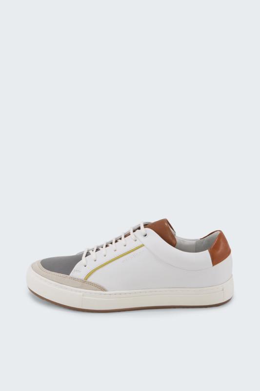 Sneaker Modern Evans, weiß/grau/braun
