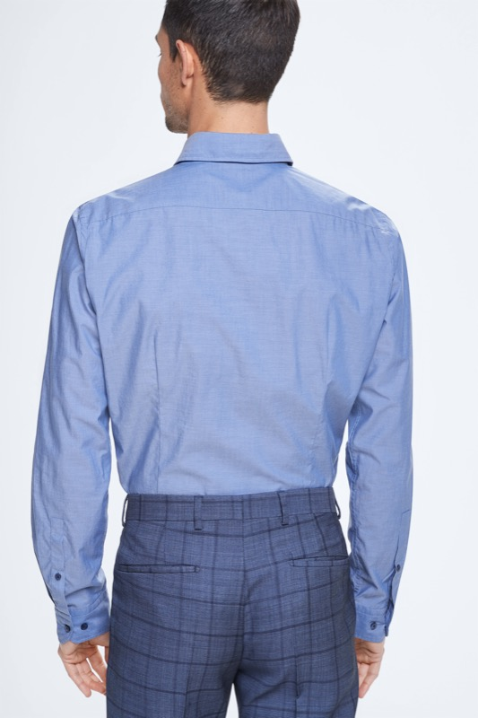 Overhemd Sereno, pastelblauw