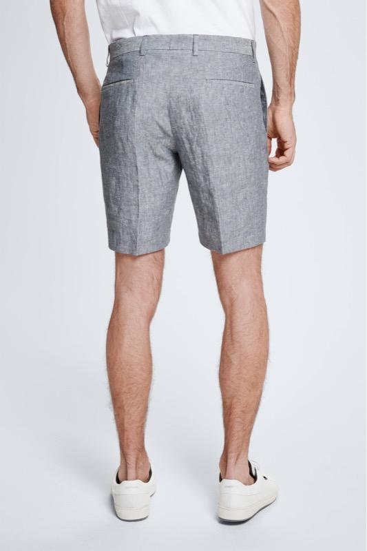Leinen-Shorts Kaj, medium grau