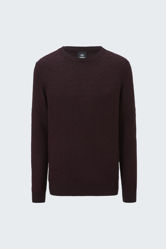 Pull-over Bent, rouge foncé