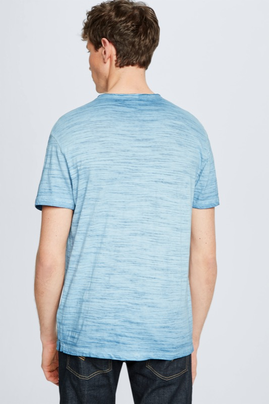 T-shirt Jake, bleu chiné