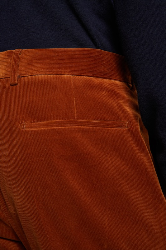 Pantalon Luc en coton stretch, orange