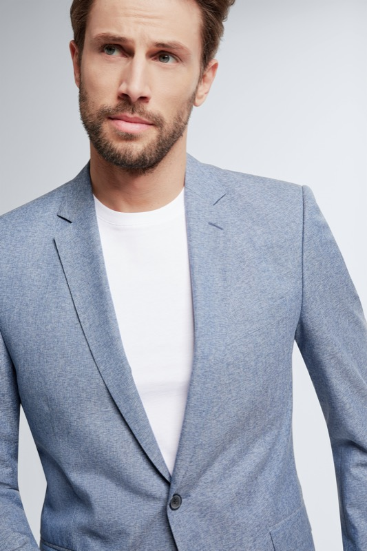 Anzug Allen-Mercer, blau-grau meliert