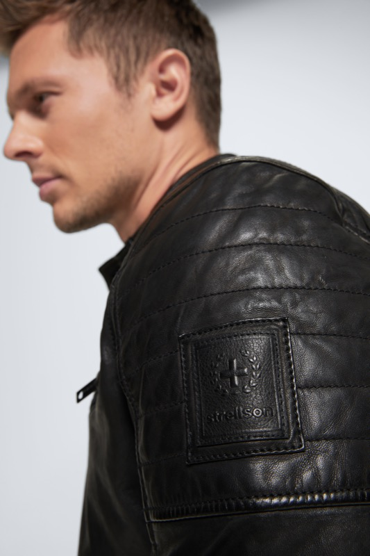Lederjacke Rovio - S.C. Collection, schwarz