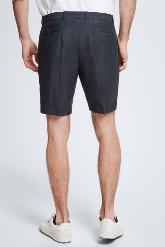 Leinen-Shorts Kaj, graublau