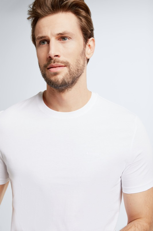 Baumwoll-T-Shirt Clark, weiß