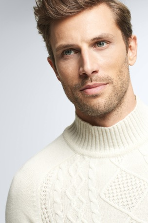 Pullover Avery, natural, turtleneck