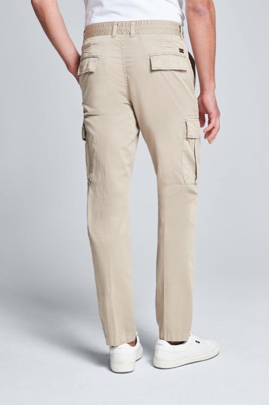 Pantalon cargo bare, beige