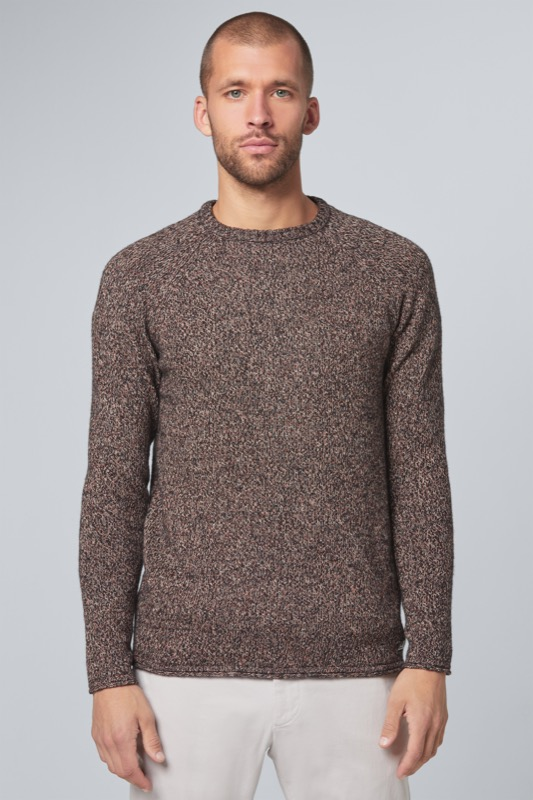 Pull-over Mark, marron foncé chiné