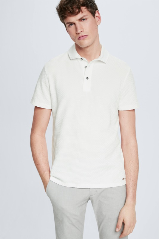 Polo Fisher, blanc